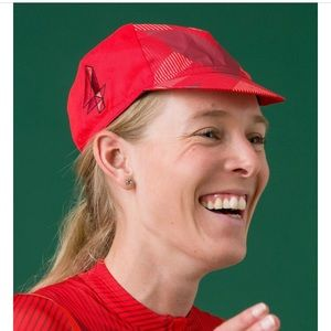 Rapha Hidden Leaves Red Cycling Souplesse Cap Hat